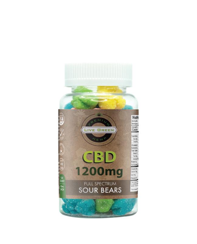 Full Spectrum Sour Bears 120ct 1200mg