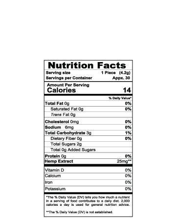CBD Organic (Vegan) Gummy Fruit Slices 8oz 750mg | Live Green Hemp