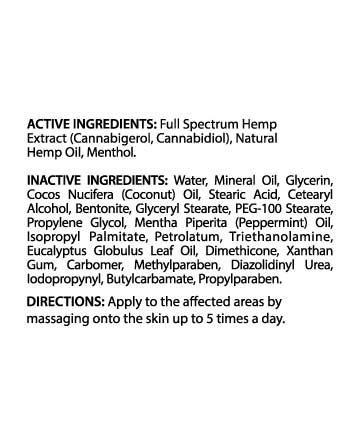 CBG/CBD Full Spectrum Muscle and Joint Cream  4oz 1000mg | Live Green Hemp