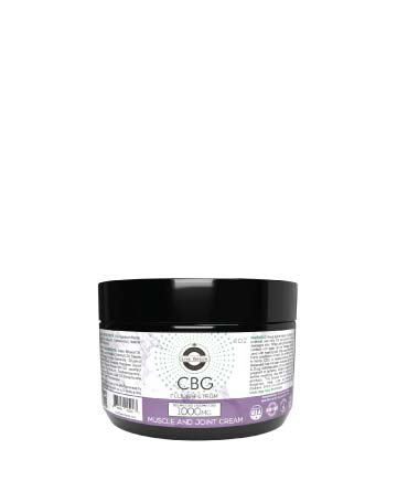CBG/CBD Full Spectrum Muscle and Joint Cream  4oz 1000mg | Live Green Hemp