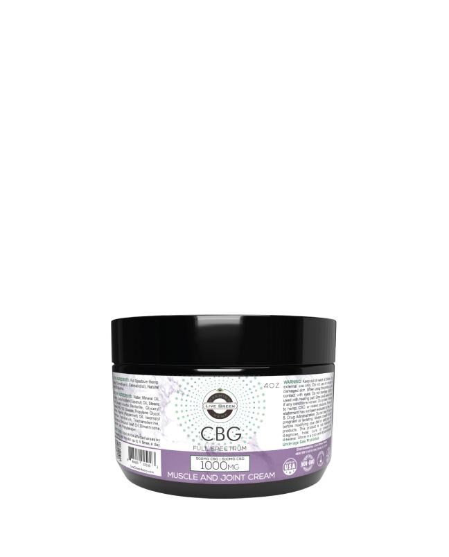 CBG/CBD Full Spectrum Muscle and Joint Cream  4oz 1000mg
