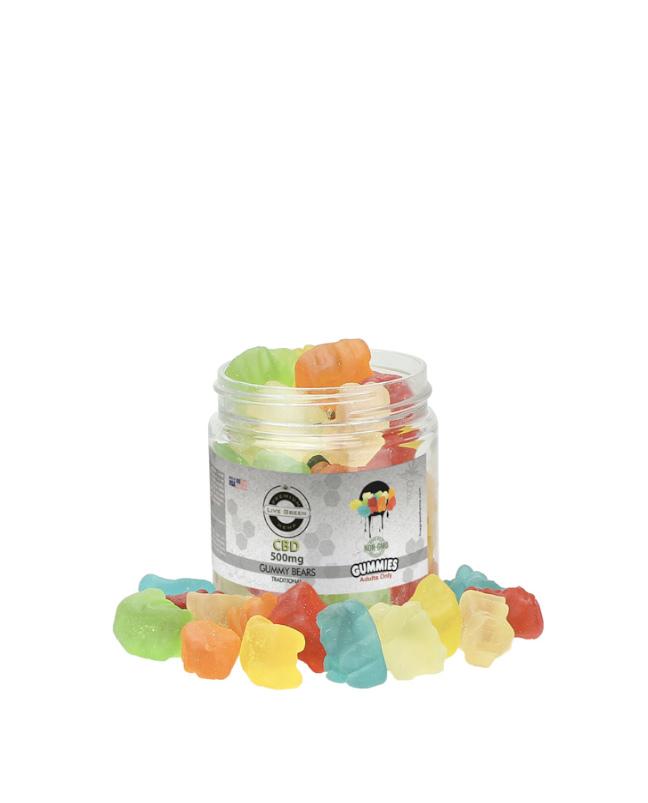 Live Green - Gummy Bears Clear 500mg