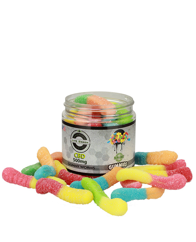 Live Green - Gummy Worms 500mg