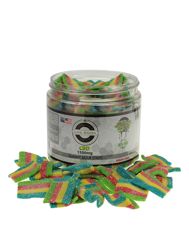 Live Green – Sour Strips 1500mg