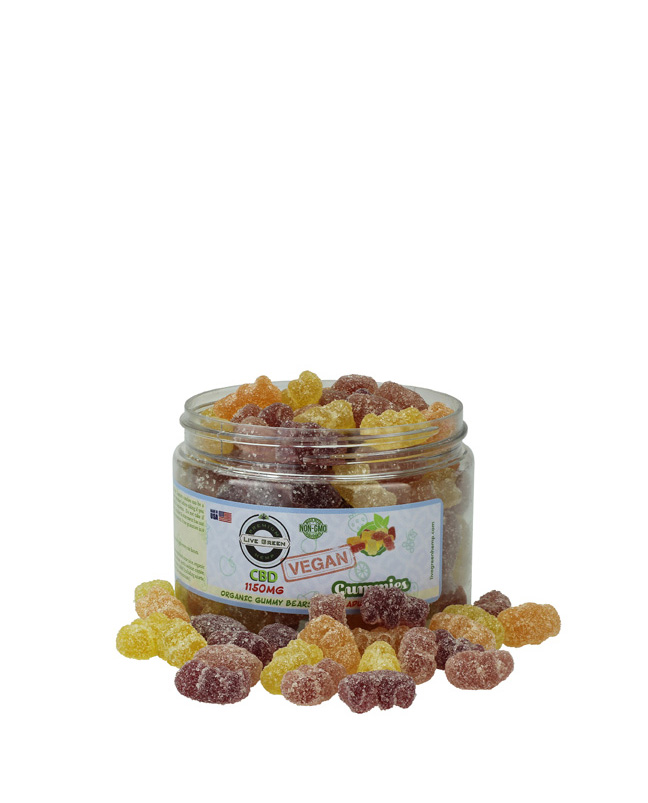 Live Green - Organic Gummy Bears (Vegan) 1150mg