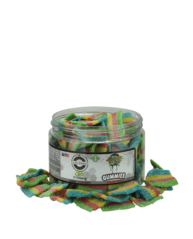 Live Green – Sour Strips 1150mg
