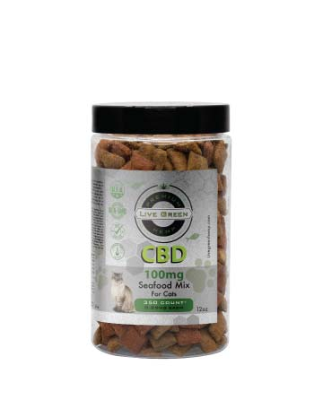 CBD Pet Treats Seafood Mix 12oz 100mg / 200mg | Live Green Hemp