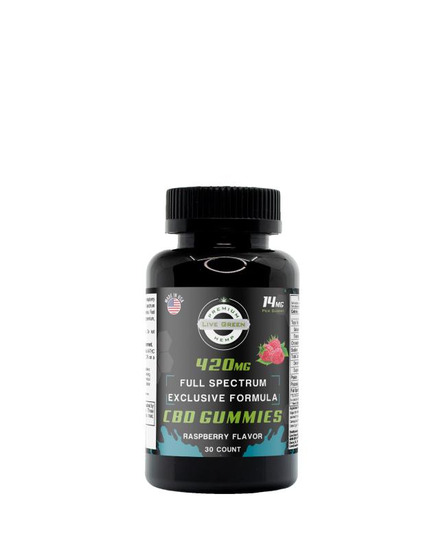 CBD Full Spectrum Gummy Exclusive Formula Raspberry 30pcs 420mg