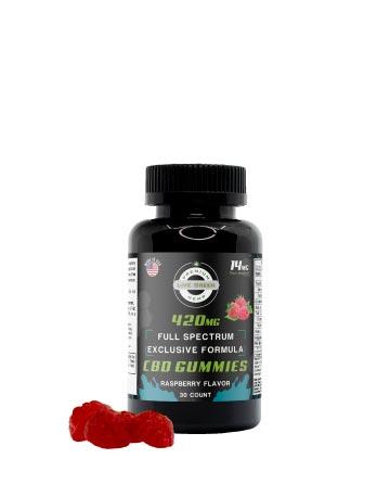 CBD Full Spectrum Gummy Exclusive Formula Raspberry 30pcs 420mg | Live Green Hemp