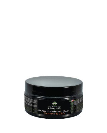CBD Black Charcoal and Turmeric Mask  6.5oz 250mg | Live Green Hemp
