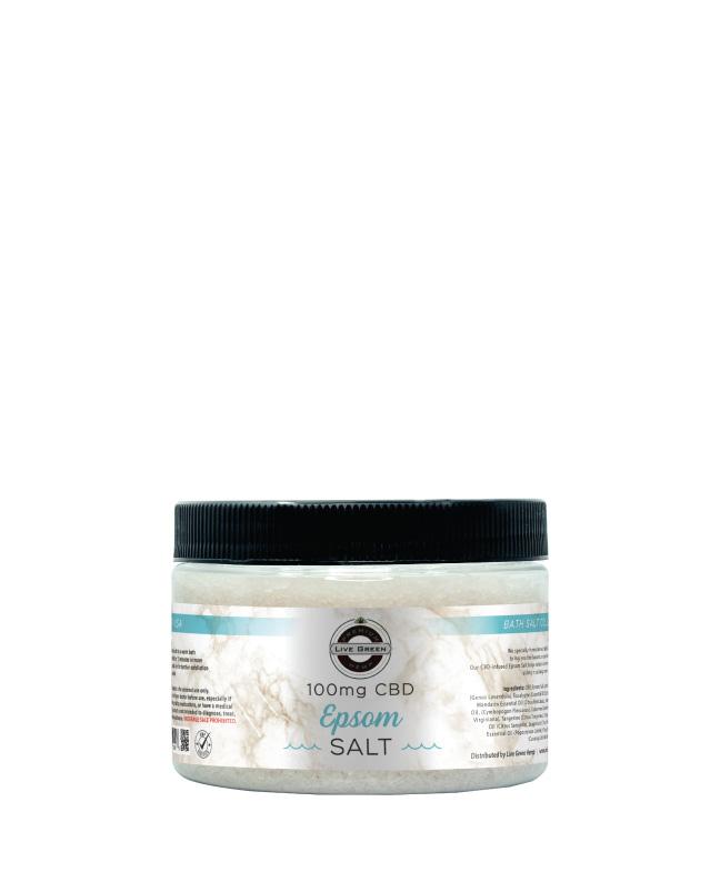 Live Green Bath Salt - Epsom- 100mg