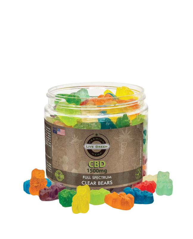 Live Green Full Spectrum Gummy Clear Bears 1500mg