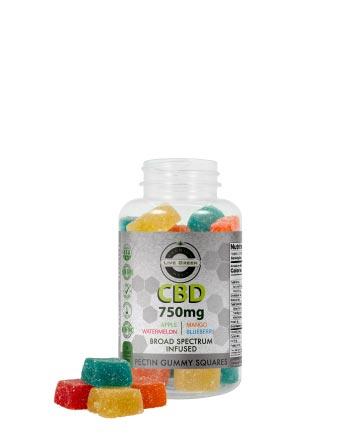CBD Broad Spectrum Gummy Pectin Infused 30pcs 750mg / 1500mg | Live Green Hemp