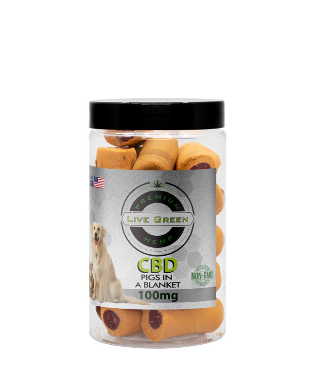 Live Green - Pet Treats Pigs in a Blanket 100mg / 200mg