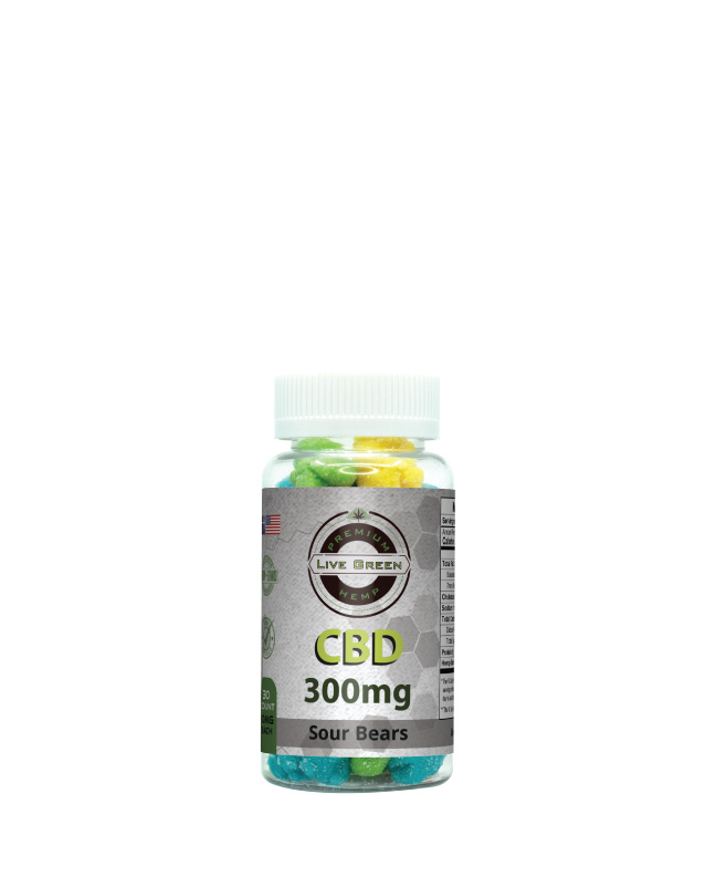 CBD Gummy Sour Bears 30pcs 300mg
