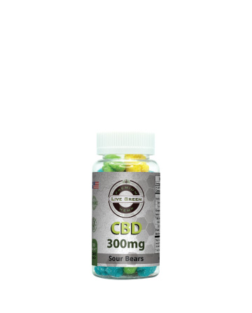 CBD Gummy Sour Bears 30pcs 300mg  | Live Green Hemp
