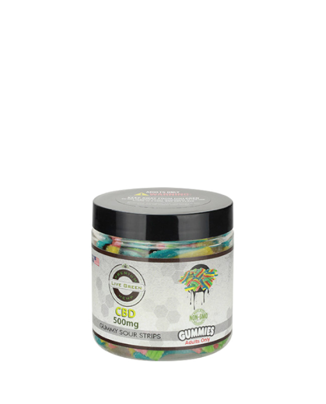 Live Green – Sour Strips 500mg