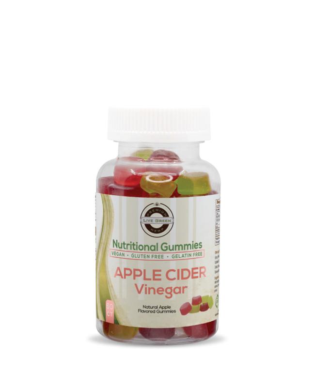 Live Green - Apple Cider Vinegar - 60ct - NO CBD