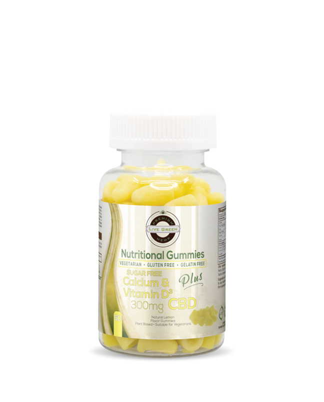Live Green Nutritional Gummy Calcium and Vitamin D
