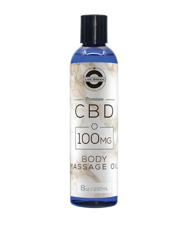 Live Green Body Massage Oil 8oz   Live Green Hemp