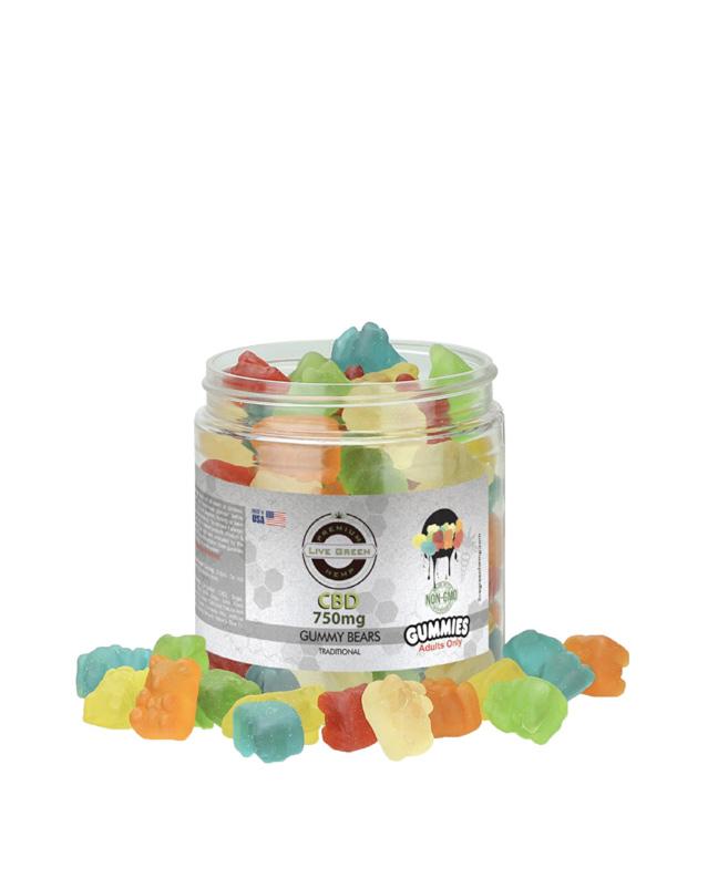 Live Green - Gummy Bears Clear 750mg