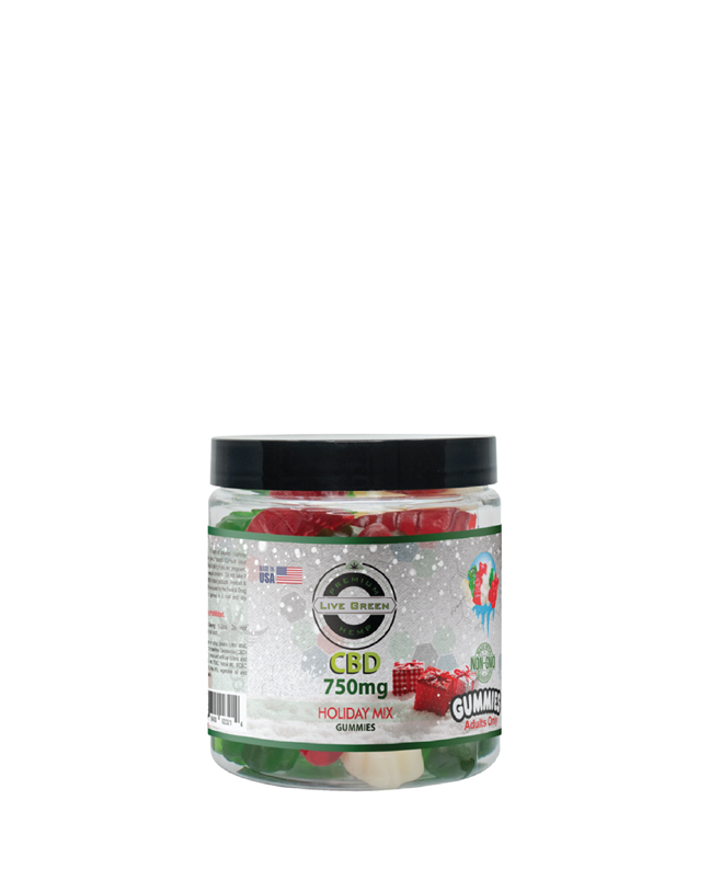 Live Green Gummy Holiday Mix Clear 750mg