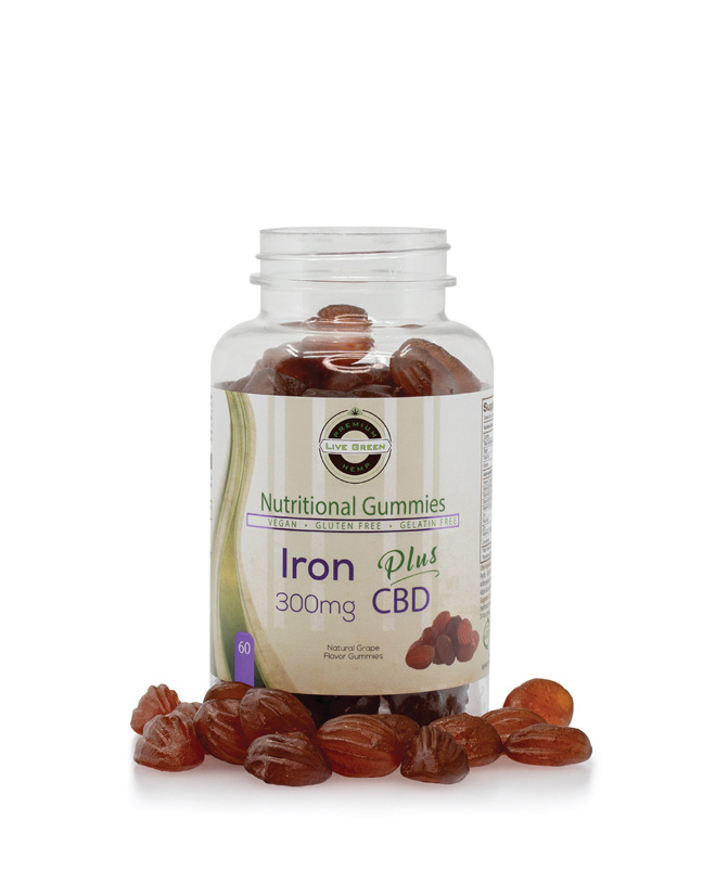 Live Green Nutritional Gummy Iron