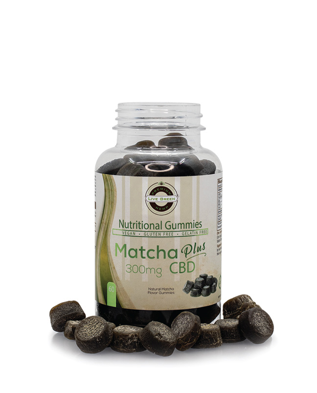Live Green Nutritional Gummy Matcha