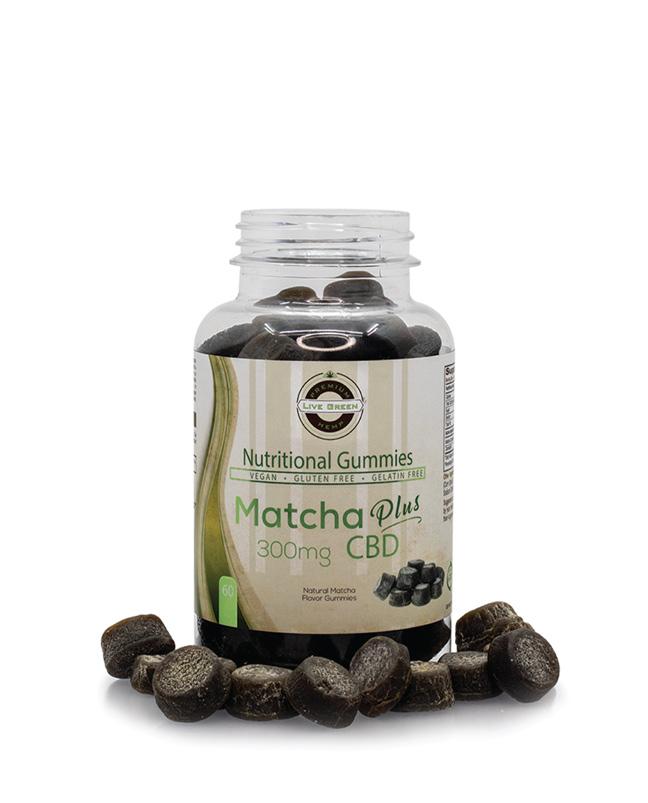 Live Green Nutritional Gummy Matcha