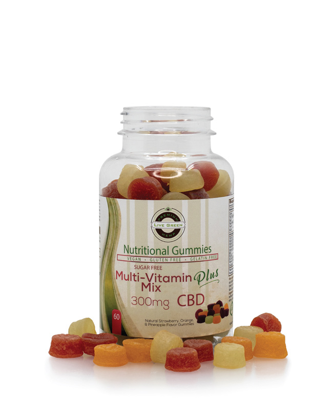Live Green Nutritional Gummy Sugar Free Multivitamin
