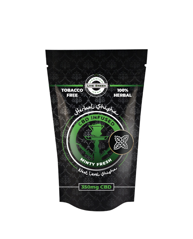 Live Green Herbal Shisha 350mg -   Minty Fresh