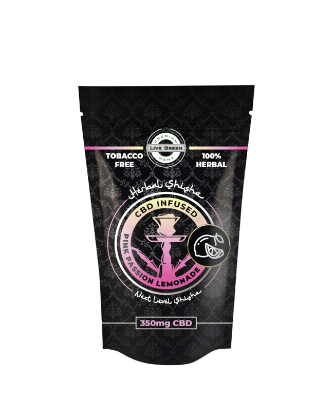 Live Green Herbal Shisha 350mg -   Pink Passion Lemonade