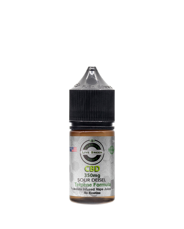 Live Green - Vape Juice Sour Diesel 350mg