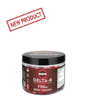 Delta 8 Legacy Gummy Berry Wedges 30pcs 750mg