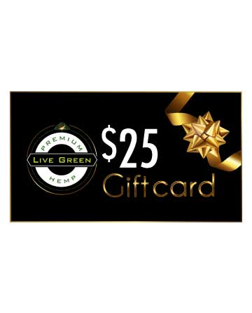Live Green - Gift Cards $25, $50, $75, $100, $200   Live Green Hemp