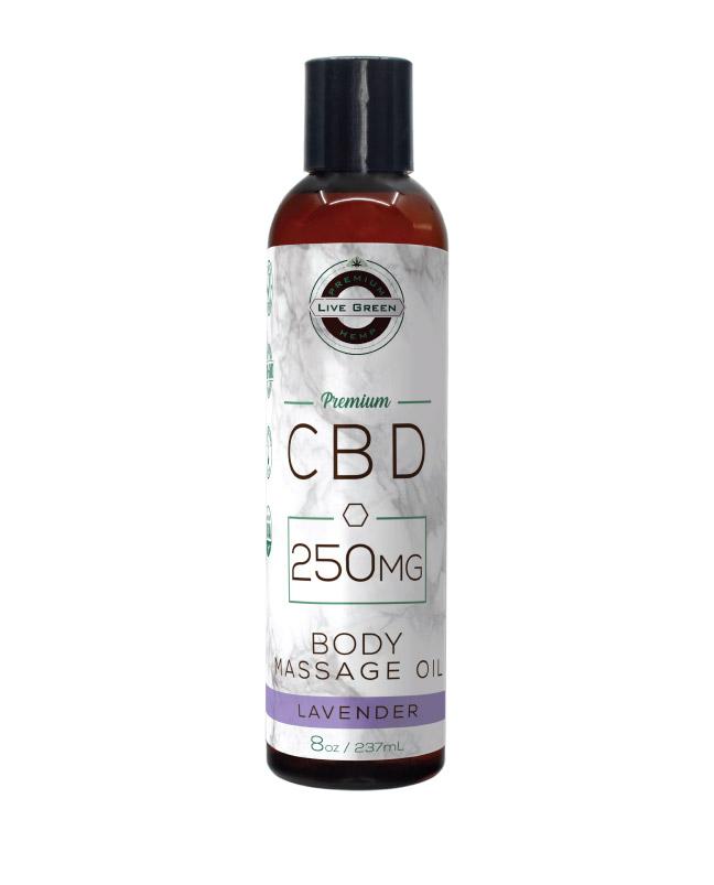 CBD Body Massage Oil Lavender 8oz 250mg