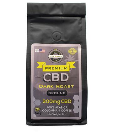 CBD Ground Coffee Dark Roast 8oz 300mg