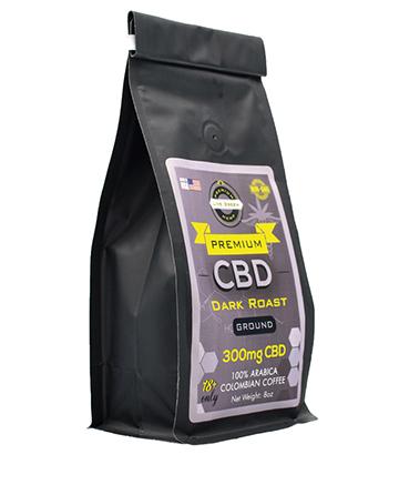 CBD Ground Coffee 8oz 300mg | Live Green Hemp