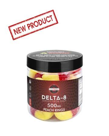 Delta 8 Legacy Gummy Peach Rings 20pcs 500mg