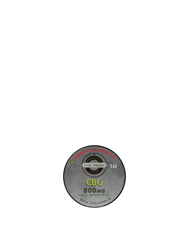 CBG Wax Crumble 1g 800mg