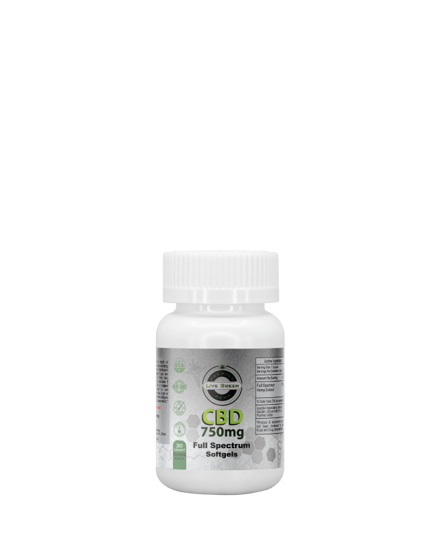 CBD Full Spectrum Softgels 30pcs 750mg