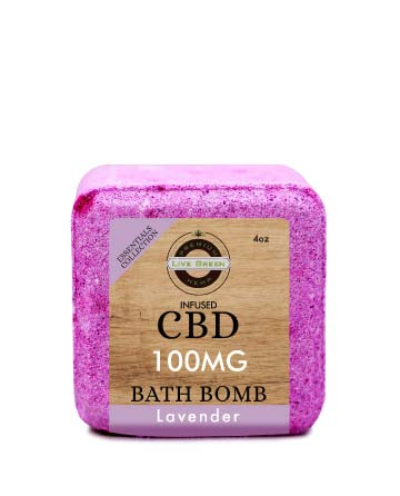 CBD Essential Oil Collection Bath Bombs Lavender 4oz 100mg