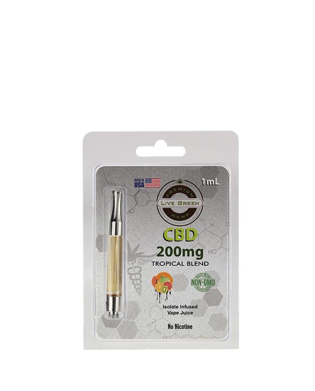 Live Green - Pre-Filled 1ml Cartridge - Tropical Blend 200mg